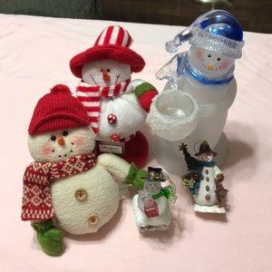 5pc Snowman Set